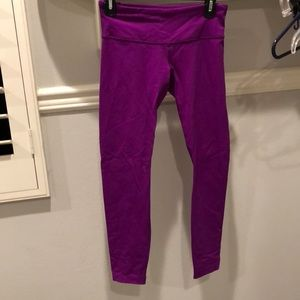 Wonder under purple leggings. Winter style